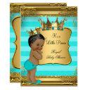 Turquoise African American Prince Baby Shower