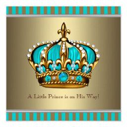 Turquoise Blue Gold Prince
