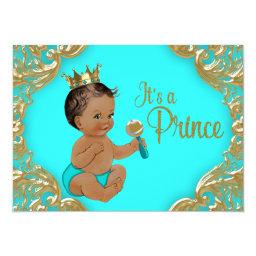 Turquoise Gold Ethnic Prince Baby Shower