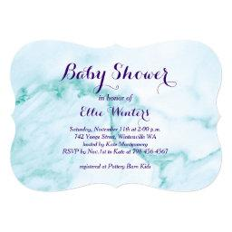 Turquoise Marble Baby Shower