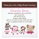Tutu Cute Ballet Animals Baby Shower Invitation