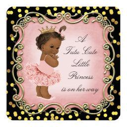 Tutu Cute Ethnic Princess Black Gold Confetti
