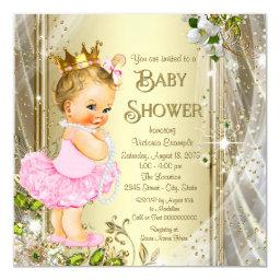 Tutu Princess Pink Gold Baby Shower