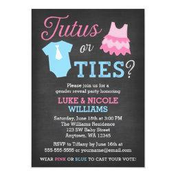 Tutus or Ties Gender Reveal Party Baby Shower