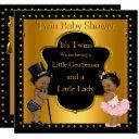 Twin Baby Shower Boy And Girl Ethnic Invitations