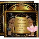 Twin Baby Shower Boy And Girl Gold Ethnic