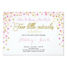 Twin Baby Shower  Girls Pink and gold