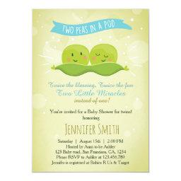 Twin Baby Shower  Two Peas In A Pod Blue