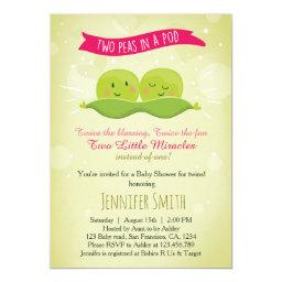 Twin Baby Shower  Two Peas In A Pod Pink