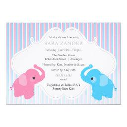 Twin Boy and Girl Elephant Baby Shower