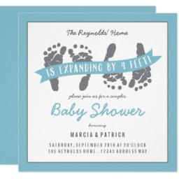 Twin Boys Couples Shower Blue and Gray Baby Shower