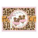 Twin Girls Tutus Cheetah Print Baby Shower Invitations