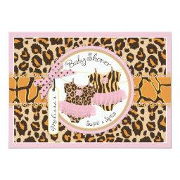 Twin Girls Tutus Cheetah Print Baby Shower