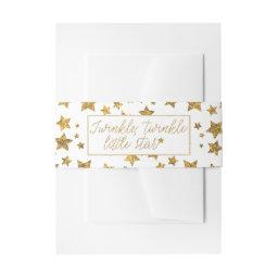 Twink, Twinkle Little Star Baby Shower Invitation Belly Band