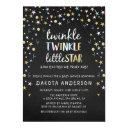 Twinkle Little Star Confetti & Chalk Baby Shower Invitations