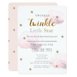 Twinkle Little Star Pink Baby Shower Invitation