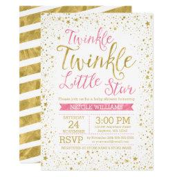 Twinkle Little Star Pink Baby Shower