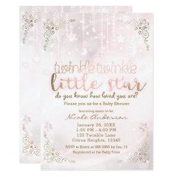 Twinkle little Star Pink Gold Sparkle