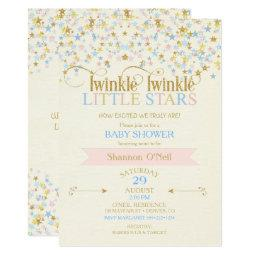 Twinkle Little Star Twins Baby Shower Pink & Blue