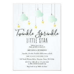Twinkle Sprinkle Little Star Neutral Baby Shower Invitation