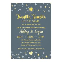 Twinkle Twinkle Gender Reveal Shower Invitations