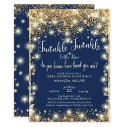 photo relating to Free Printable Twinkle Twinkle Little Star Baby Shower Invitations identified as Twinkle Twinkle Minor Star Boy or girl Shower Invites