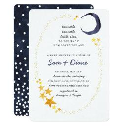 Twinkle Twinkle Little Star Baby Shower Invite