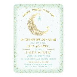 Twinkle Twinkle Little Star Baby Shower Mint Gold