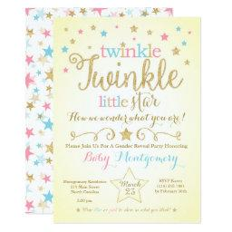 Twinkle Twinkle Little Star Gender Reveal Invite