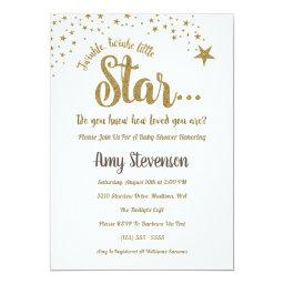 Twinkle Twinkle Little Star Neutral Shower Invite