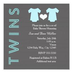 TWINS Boy Blue Twin Baby Shower Party