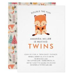 Twins Double The Fun Fox Baby Shower