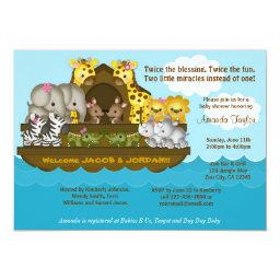 TWINS Noah's Ark Baby Shower