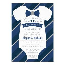 Two Little Feet Baby Shower , Bow Tie