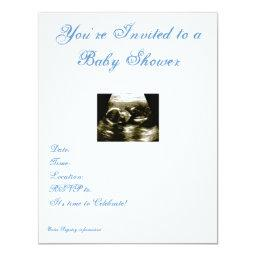 Ultrasound Baby Shower Invitations BabyShowerInvitations4U