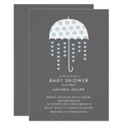 Umbrella Baby Boy Shower