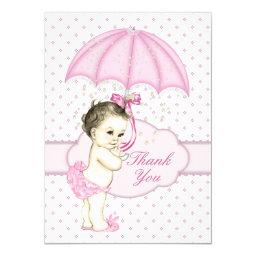 Umbrella Baby Girl Sprinkle Baby Shower Thank You