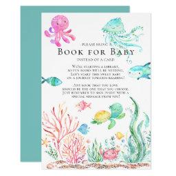 Under The Sea Baby Shower Book For Baby
