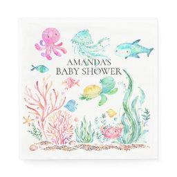Under The Sea Baby Shower Paper Napkins