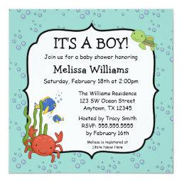 Under the Sea Bubbles Boy Baby Shower