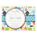 Under The Sea, Nautical Baby Shower Invitations