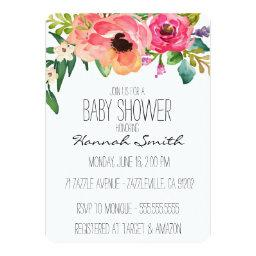 Unique Boho Floral Baby Shower