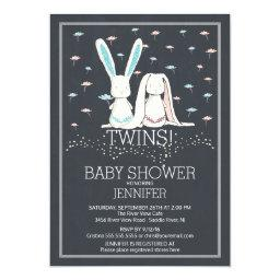 Unique Chalkboard TWIN Girl Boy Bunny Baby Shower