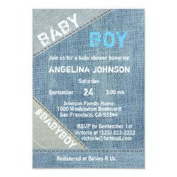 UNIQUE Denim Jeans Boy Baby Shower