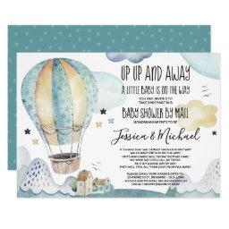 Up And Away Hot Air Ballon | Baby Shower By Mail Invitation