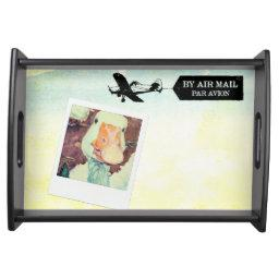 Us Air Mail Goose Tan Colored Serving Tray