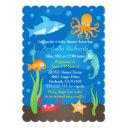 Vibrant Under The Sea Baby Shower Invitationss