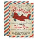 Vintage Airplane Baby Shower Invitations Invite