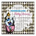 Vintage Alice Wonderland Baby Shower Invitation