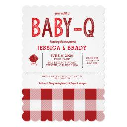 Vintage Baby-q Bbq Baby Shower Invitation